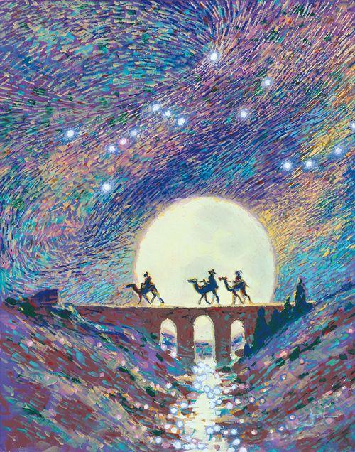 Joni's Three Wise Men Painting