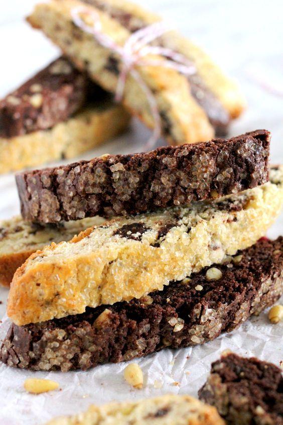 Chocolate Pine Nut Biscotti