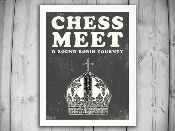 CHESS POSTER and Art PRINT Chess Match by theNATIONALanthem 16x20 $34 unframed