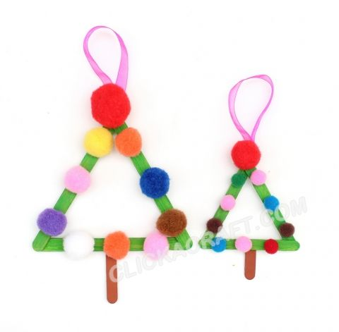 Popsicle Stick Christmas Trees Holiday Decorations – Christmas Decorating Ideas for Children