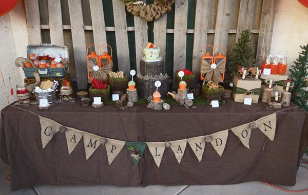 camping-party-dessert-table-burlap