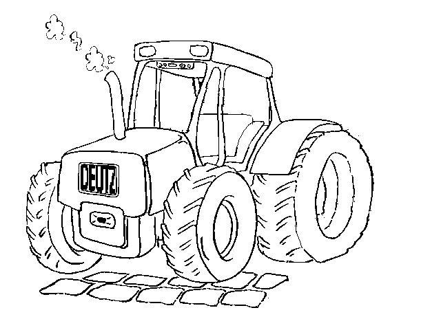 kleurplaat tractor - kleurplaten tractor