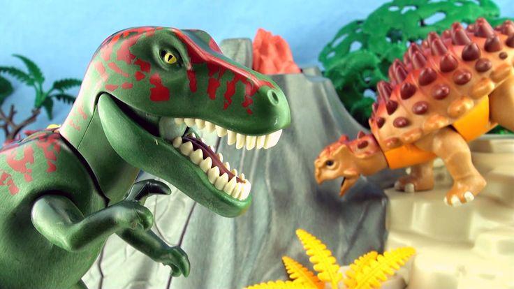 Playmobil Tyrannosaurus Dinosaur - Playmobil 5230 Dinos Volcano with T-R...