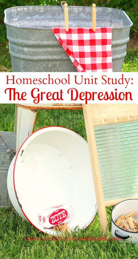Want to see how easy homeschool can be?  Take a peek at one of our homeschool unit studies on The Great Depression!