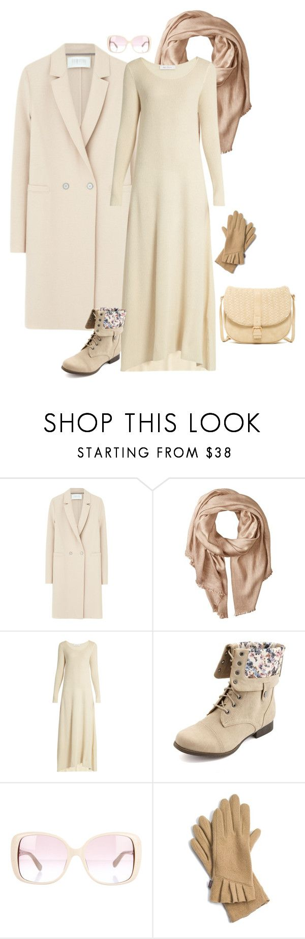 """Outfit 509"" by chicagomuslima ❤ liked on Polyvore featuring Harris Wharf London, Michael Stars, Ryan Roche, Charlotte Russe, Valentino, Echo, Deux Lux, winterstyle and maxistyle"