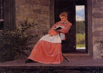 Girl Reading on a Stone Porch - Winslow Homer - The Athenaeum