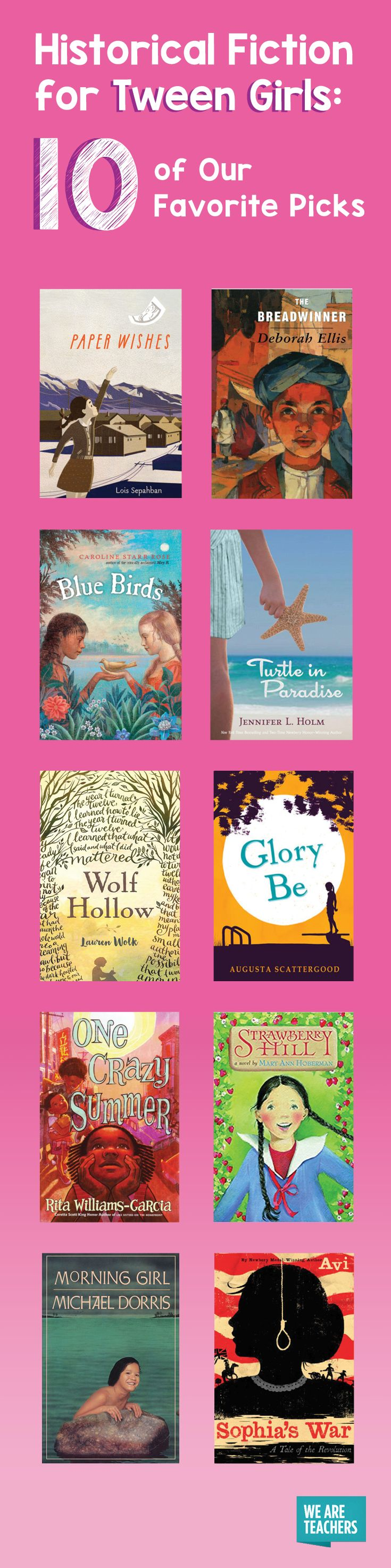 Historical Fiction for Tween Girls: Our 10 Favorite Picks - WeAreTeachers