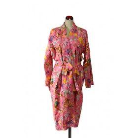 Kimono Bird Robe - Lilac Pink