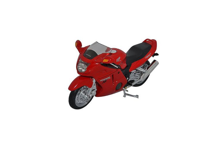 Honda CBR1000XX, Model Motorbike, Welly 12143PW, 1:18 scale in Red This Honda CBR1000XX Diecast Model Motorcycle is Red and features working stand, steering, wheels. It is made by Welly and is 1:18 scale (approx. 11cm / 4.3in long). #Welly #ModelMotorbike #Honda #MiniModelBikes