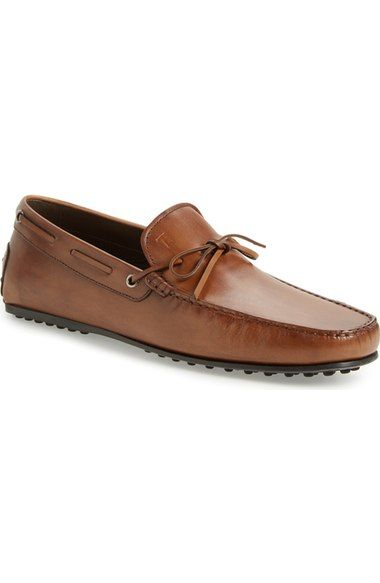 TOD'S 'City Gommini' Tie Front Driving Moccasin (Men). #tods #shoes #