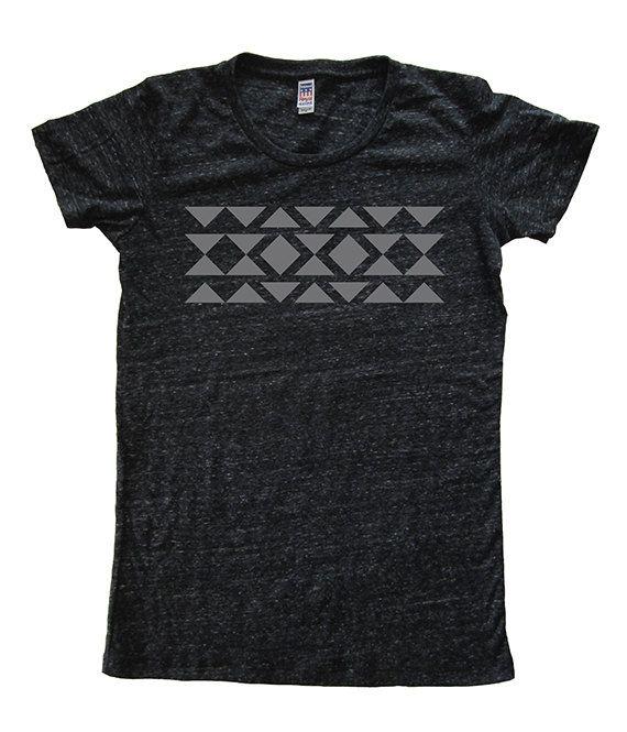Geometric Womens Triblend Tshirt  Soft Luxury by BirchwoodTees