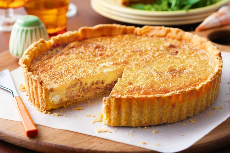French. Quiche Lorraine. Classic quiche lorraine is great served as a starter snack or part of dinner.