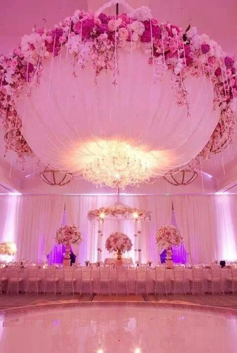 Wedding reception ceiling decorations for Ceiling hanging decorations ideas