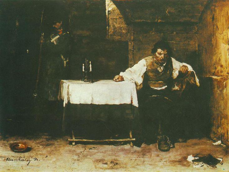 Mihaly Munkacsy: Siralomhaz- Waiting to be executed - Hungary
