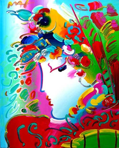 Peter Max is my absolute favorite artist-- I tried to recreate this once.  Mine looked cool, but nowhere near as elegant and flowing as his :(