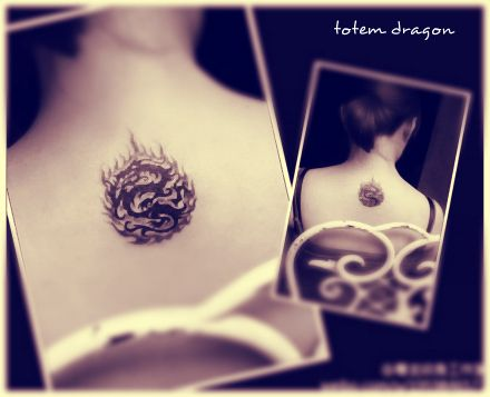 one cute #dragon #tattoo surrounded by flames
