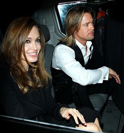 Angelina Jolie, Brad Pitt and a Buddhist monk!