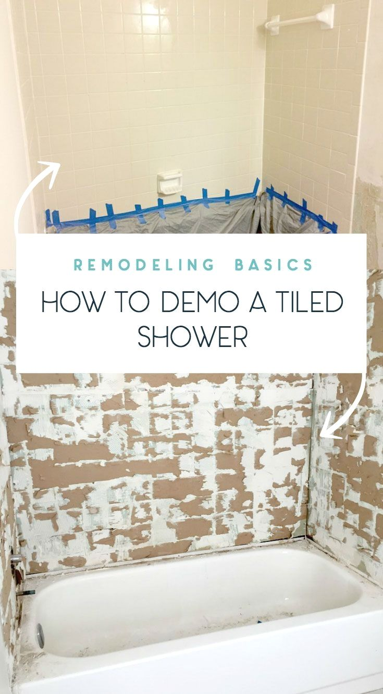 Tips On How To Remove Old Shower Tile Shower Tile Shower Remodel Diy Bathroom Remodel