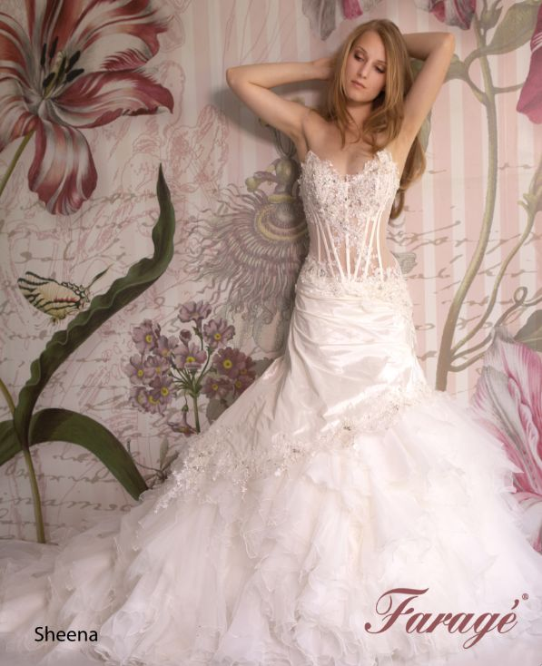 Faragé Wedding Gown - Sheena Available at Bowties Bridal