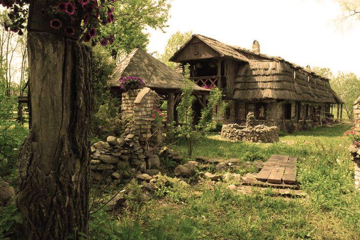 Hut in Kruszyniany Village in Poland