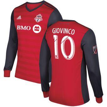 adidas Sebastian Giovinco Toronto FC Red Primary Authentic Long Sleeve Jersey #torontofc #toronto #mls