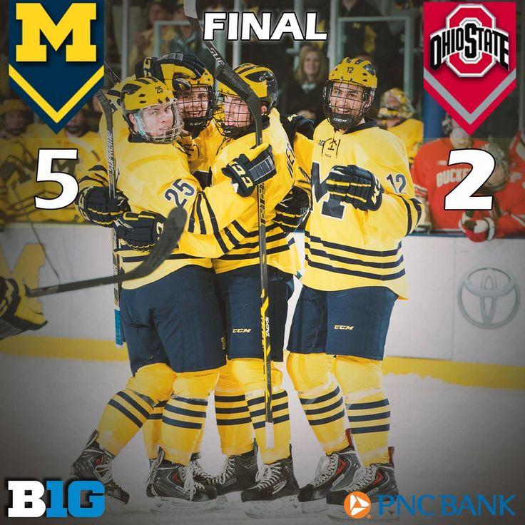 Michigan beats OSU twice in a day! Michigan Hockey wins 5-2