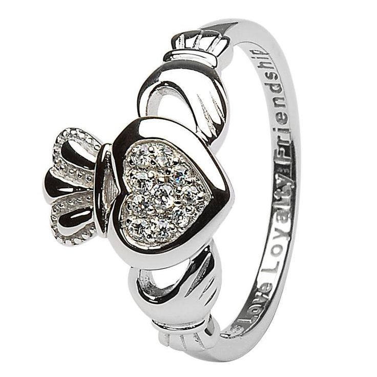 A beautiful Claddagh ring.  One of the prettiest I've seen.