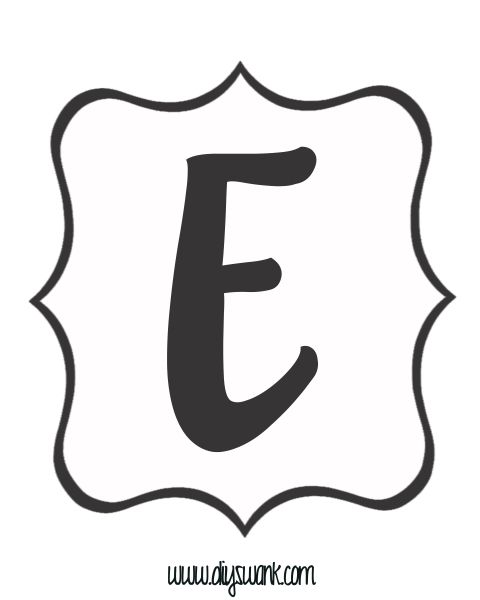 White and Black Letter_E