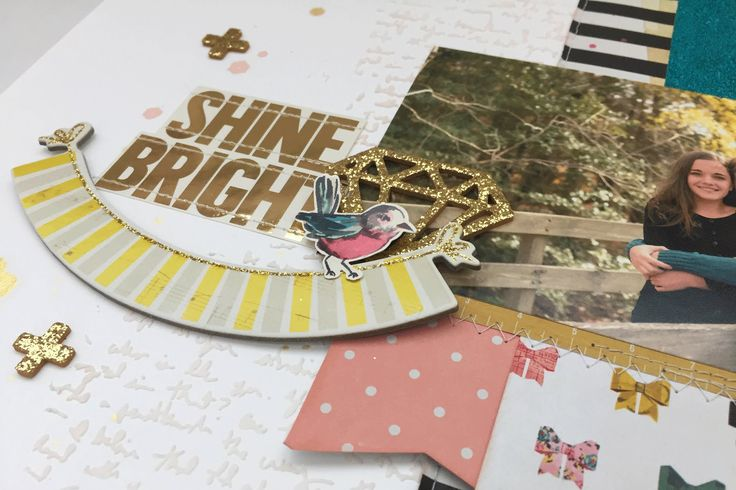 Scrap the Challenge with Kelly and Mari (#1): Shine Bright