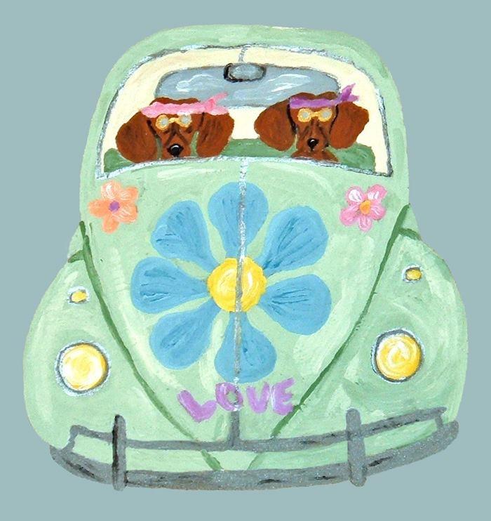 doxie love: Random Fun, Iphone 4S, Fun Stuff, Flower, Dachshund Hippies, Mobile