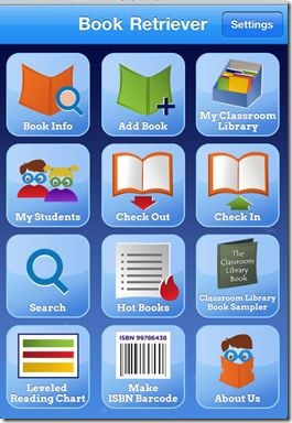 Classroom Library App...scan in all of your books & includes a book leveler!!