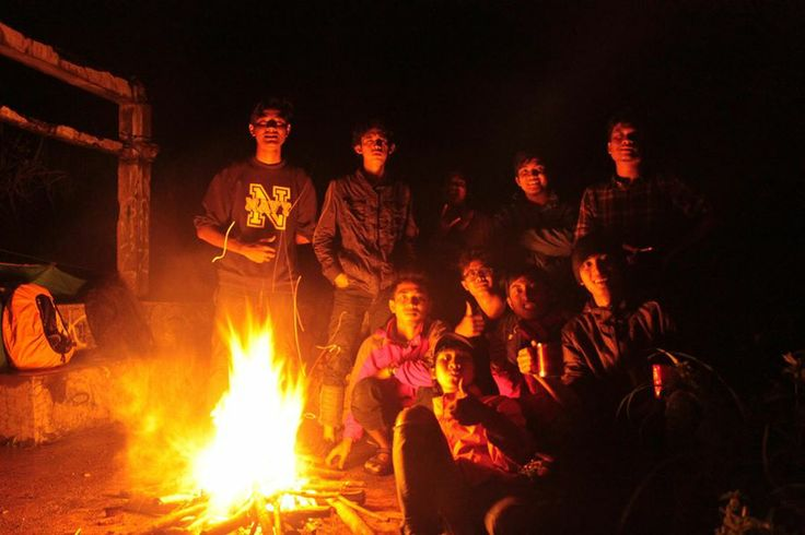 """2 days camping with geological engineering UPN """"Veteran"""" Yogyakarta friends. Camp on the top of some hill, that has abandoned house in it. Epic!"""