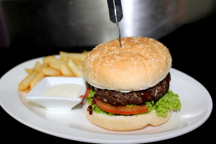 Tomi's Chef's Special - Homemade Venison Burger with Spicy Plum sauce