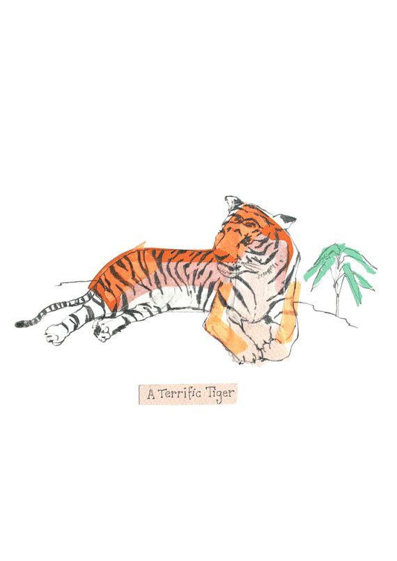 Terrific Tiger by lizkingillustration on Etsy