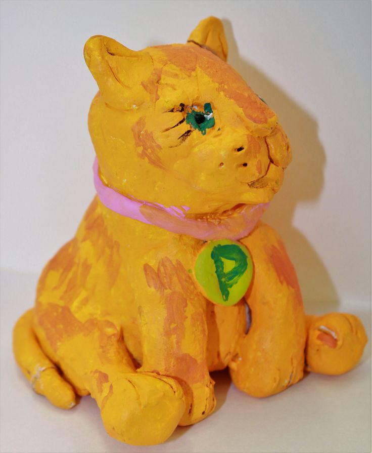 Piya 6 yrs, Cat Clay Sculpture