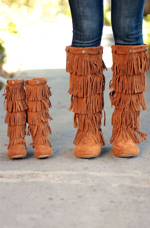 Matching mommy and me fringe boots! #mommyandme #inspiredbyyou #fringeboots