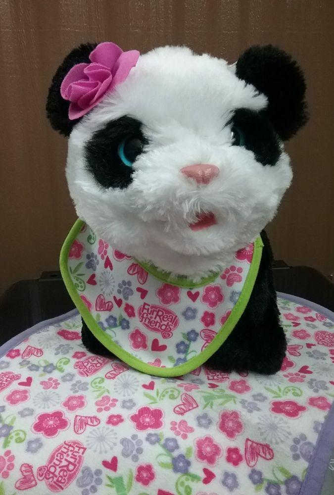 Furreal Friends Pom Pom My Baby Panda Pet With Blanket And Bib No