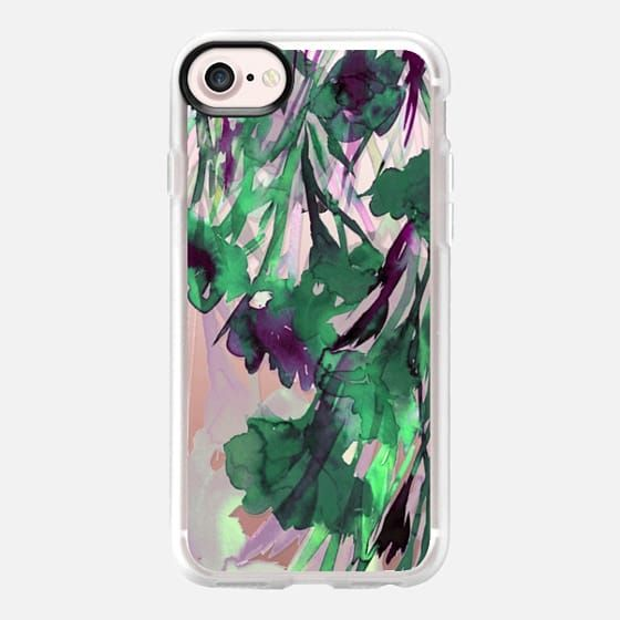 DANCING IN THE GARDEN 3, VIOLET PURPLE NEON LIME GREEN Colorful Floral Watercolor Abstract Flowers Painting Botanical Lovely Fresh Nature Ebi Emporium - Snap Case #Casetify @Casetify #EbiEmporium #iPhoneCase #iPhone6 #iPhone7Plus #iPhone8Plus #iPhone7 #iPhone8 #iPhoneX #Samsung #case #floral #girly #watercolor #transparent #garden #flowers #floraliPhone #CasetifyArtist