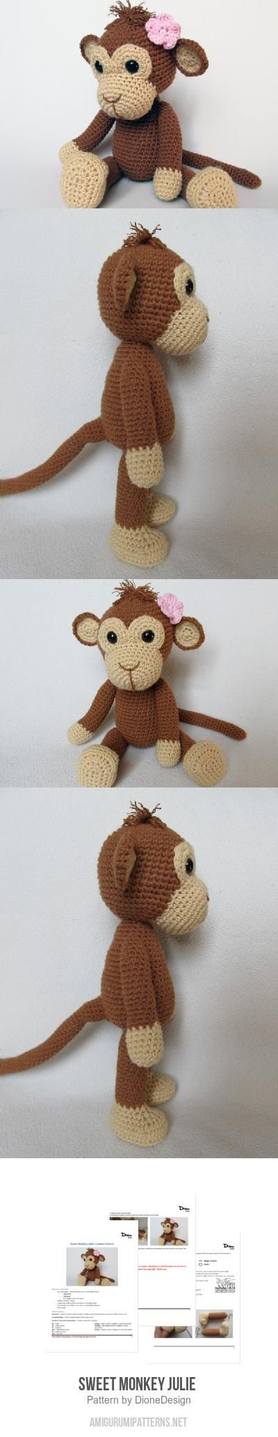 Sweet Monkey Julie  amigurumi pattern