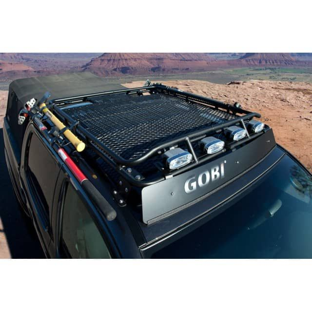 Gobi Stealth Roof Rack	2005+ Toyota Tacoma Crew Cab GOBI SPECIAL!Order this GOBI roof rack and receive a FREE WIND DEFLECTOR, and FREE SHIPPING! 	Gobi USA offers a line of high quality roof racks, ladders and accessories for your Toyota Tacoma. Gobi racks and accessories are proudly made in the USA.	Gobi leaves no stone unturned when developing accessories which blend effortlessly with Toyota Tacoma's and their owners. Gobi strive to supply unique accessories with strong off road…