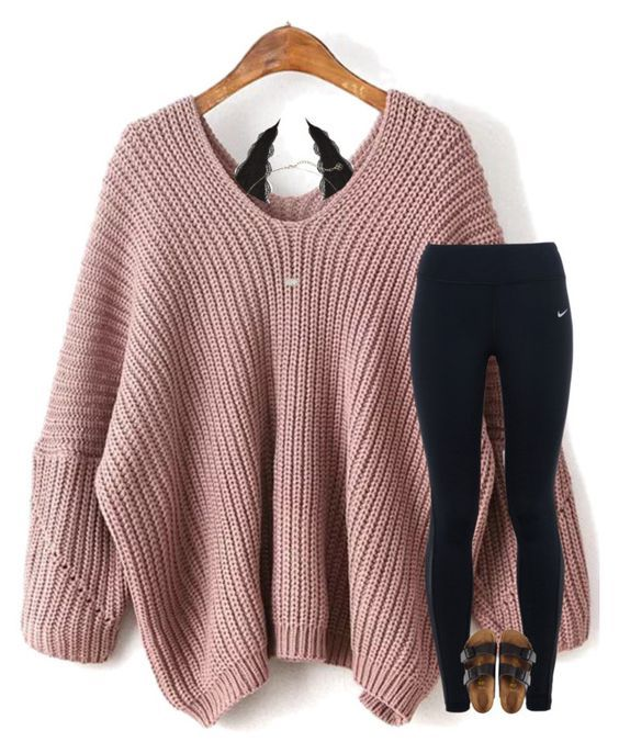 """""""lost and found"""" by allison-in-wonderland ❤ liked on Polyvore featuring WithChic, NIKE, Charlotte Russe, Birkenstock and Kendra Scott"""
