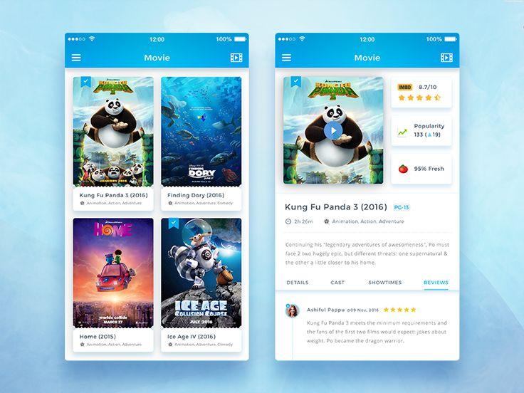 Conceptual Movie App UI by Md. Ashiful Haque