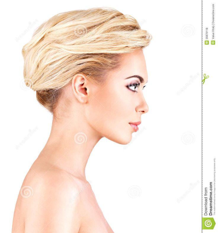 Womans Face Profile Viewing Gallery Visage Et Cou