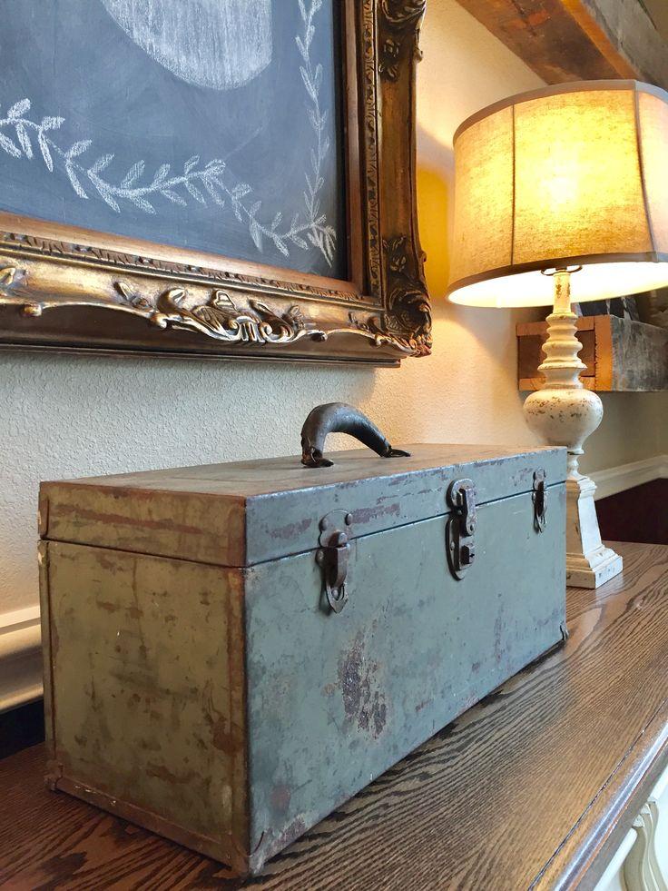vintage tool box ornate frame chalkboard hobby lobby lamp