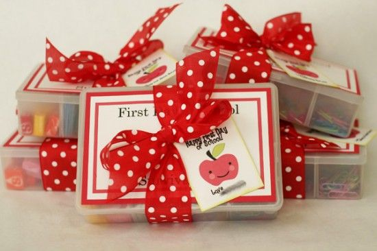 First Day Survival Kit – This is a darling meet-the-teacher gift as it's a first-aid-kit for the teacher with supplies.