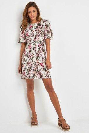 8c63c6c3dae Pink Blurred Animal Print Dress