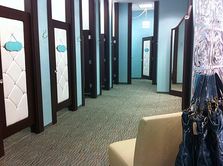 Retail fitting room doors look at those upholstered for Maurice boutique