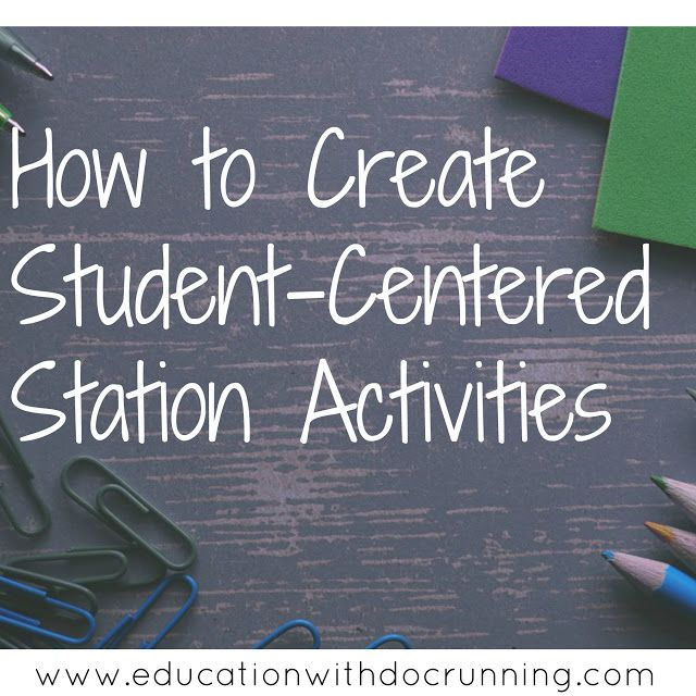 There is no reason for every student to do the same activity.  Create stations that appeal to different learning styles with these helpful tips.