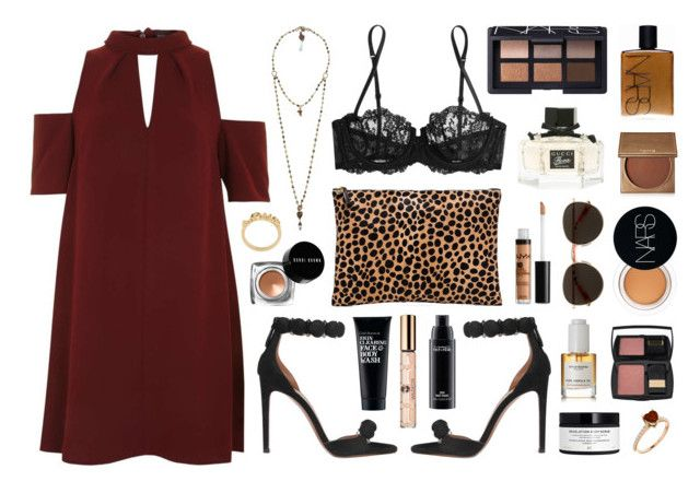 """""""Love heals"""" by sophiehackett ❤ liked on Polyvore featuring NARS Cosmetics, La Perla, Alaïa, Topshop, Clark's Botanicals, Wildfox, NYX, Clare V., H&M and African Botanics"""