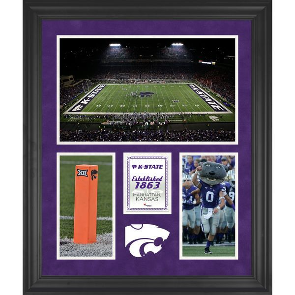 "Kansas State Wildcats Fanatics Authentic Framed 20"" x 24"" Bill Snyder Family Football Stadium 3-Opening Collage - $129.99"